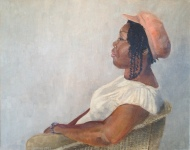 Isaac's Mother, 20 x 16 inches oil on canvas