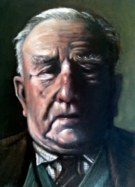 The Patriarch, 16 x 20 inches. Exhibited at the Holburne Portrait Prize 2012, Bath