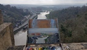 Painted from the Clifton Suspension Bridge