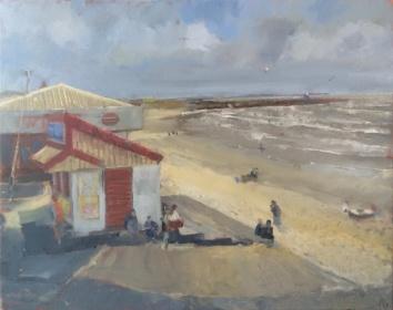 Myra's Kiosk, Porthcawl by Ian Price