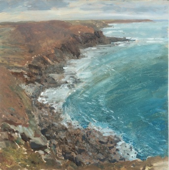 Porth Nanven and Land's End by Ian Price